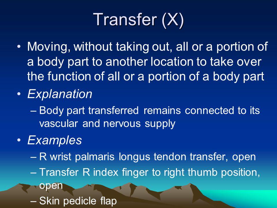 Transfer (X)