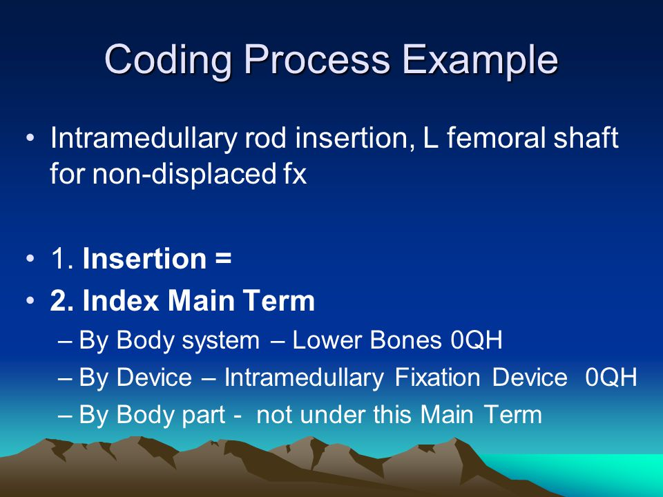 Coding Process Example