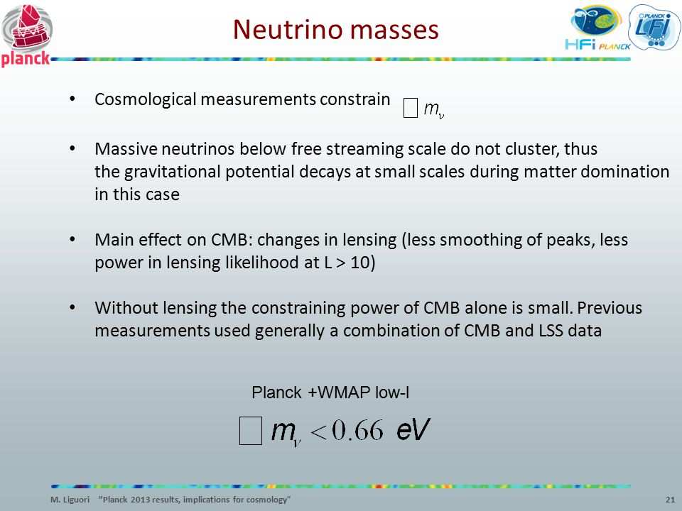Neutrino masses Cosmological measurements constrain