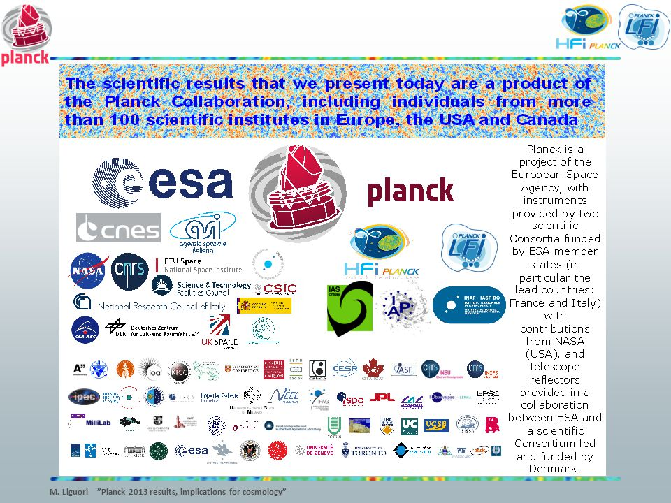 M. Liguori Planck 2013 results, implications for cosmology
