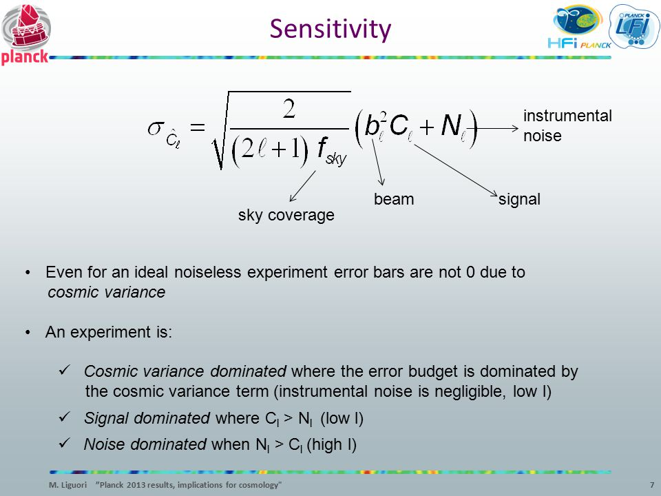 Sensitivity instrumental noise beam signal sky coverage