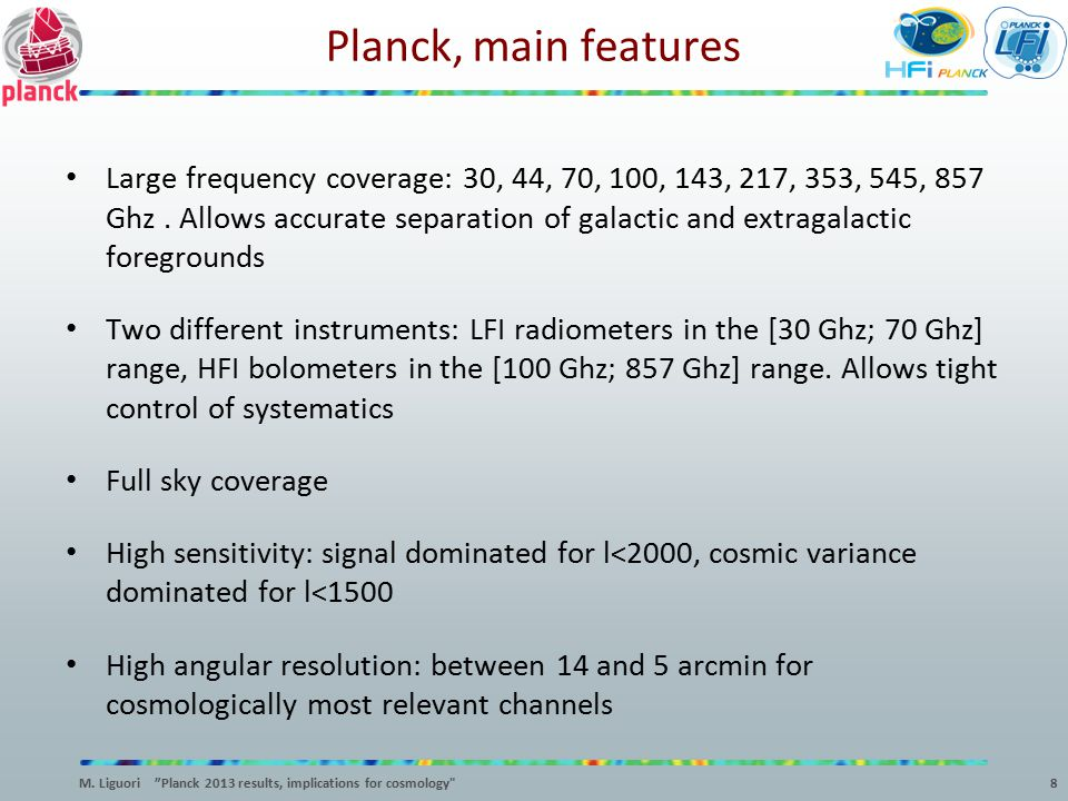 Planck, main features