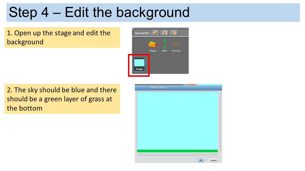 Step 4 – Edit the background