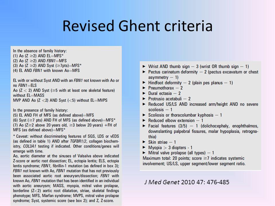 Revised Ghent criteria
