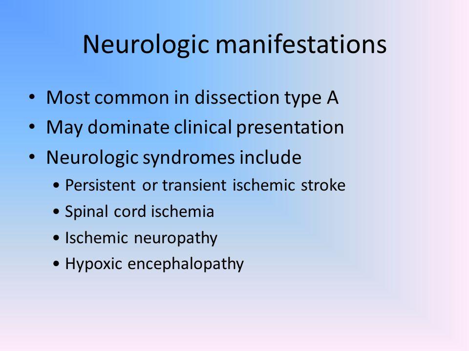 Neurologic manifestations