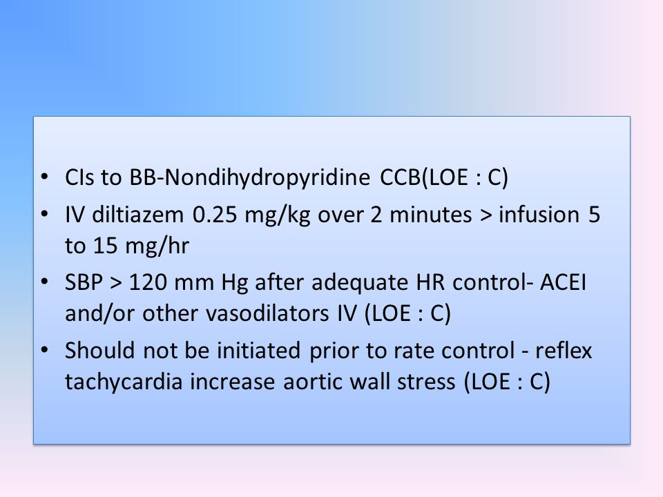 CIs to BB-Nondihydropyridine CCB(LOE : C)