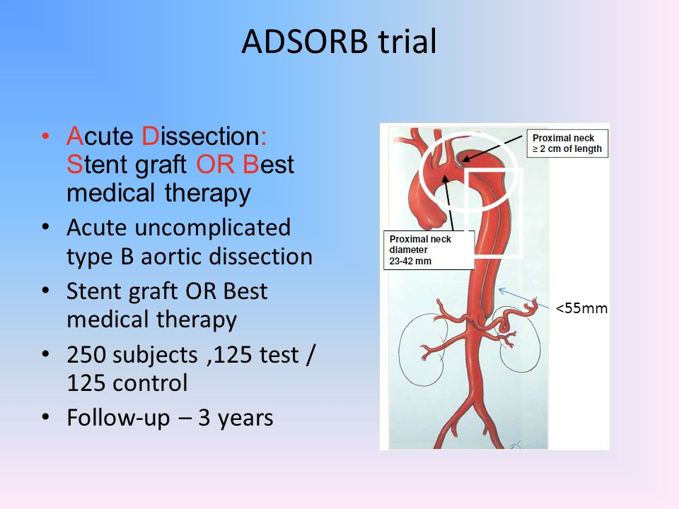 ADSORB trial Acute Dissection: Stent graft OR Best medical therapy