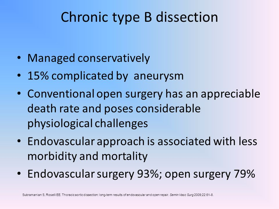 Chronic type B dissection