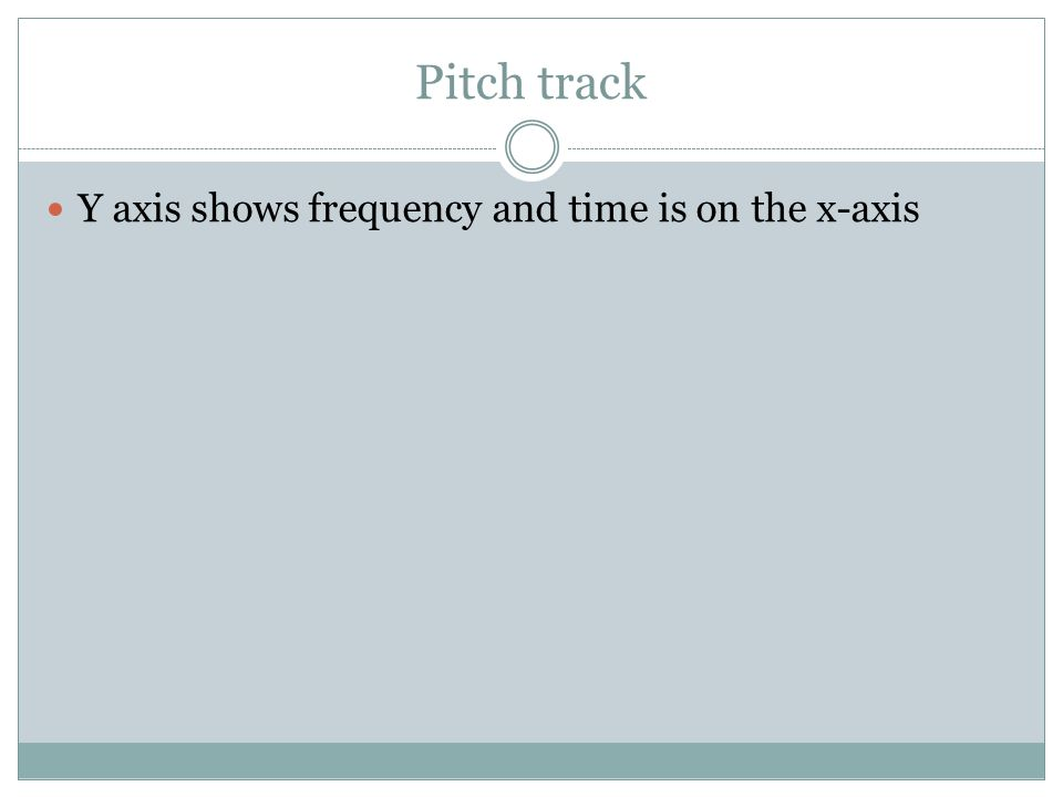 Pitch track Y axis shows frequency and time is on the x-axis