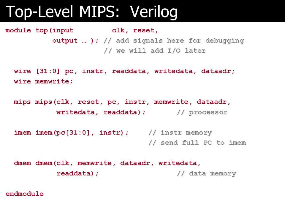 Top-Level MIPS: Verilog