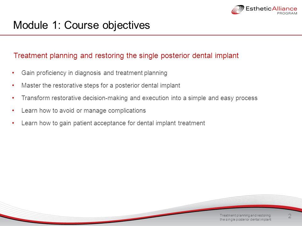 Module 1: Course objectives