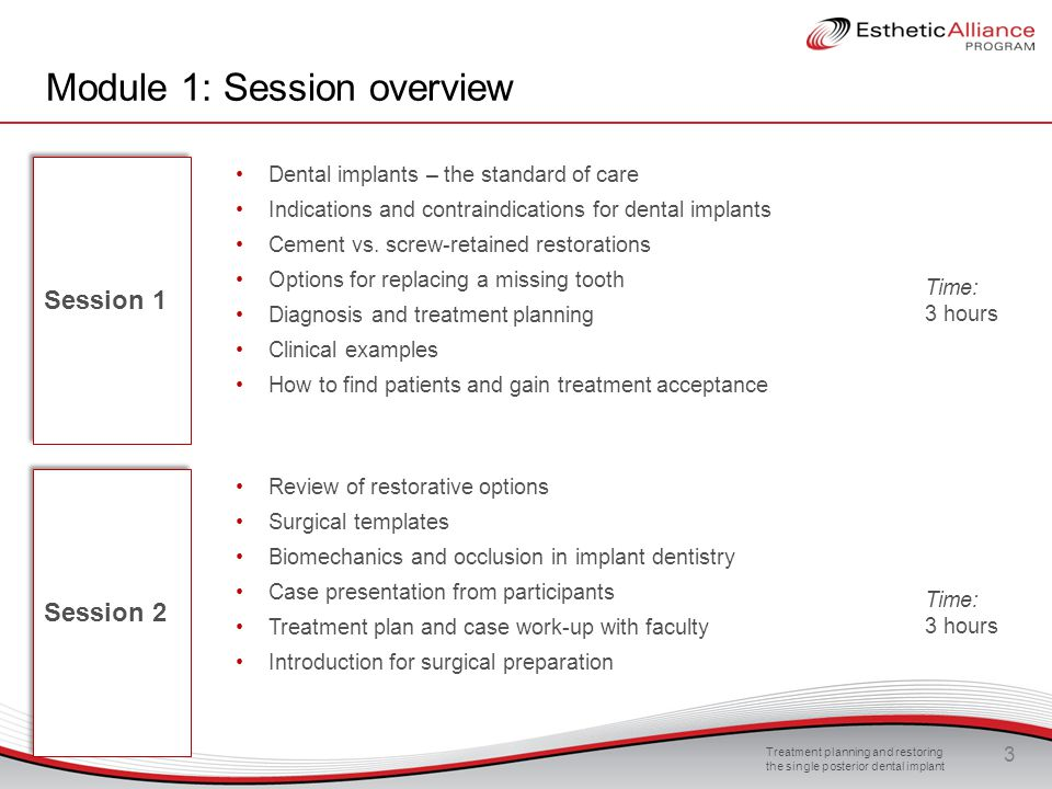 module 1 session 2 treatment planning and restoring the single posterior implant please note. Black Bedroom Furniture Sets. Home Design Ideas