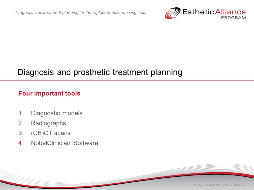 Diagnosis and prosthetic treatment planning