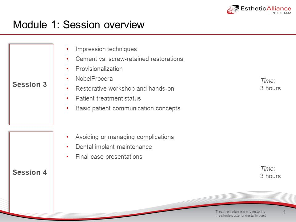 Module 1: Session overview