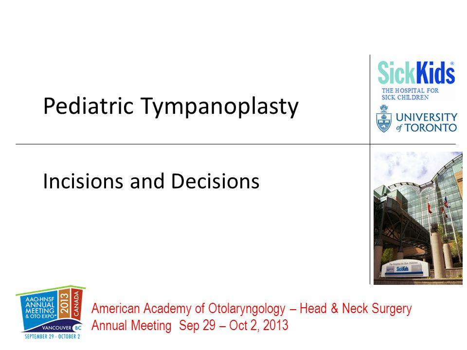 Pediatric Tympanoplasty