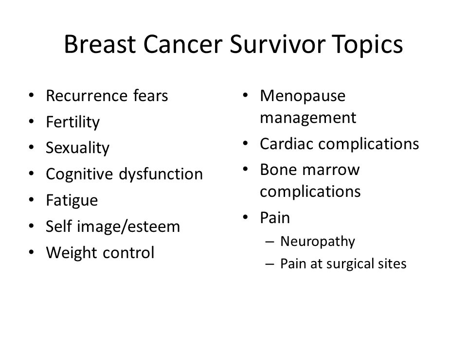Breast Cancer Survivor Topics