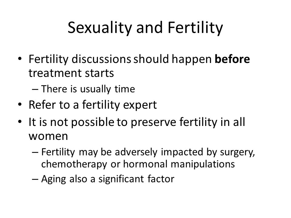 Sexuality and Fertility