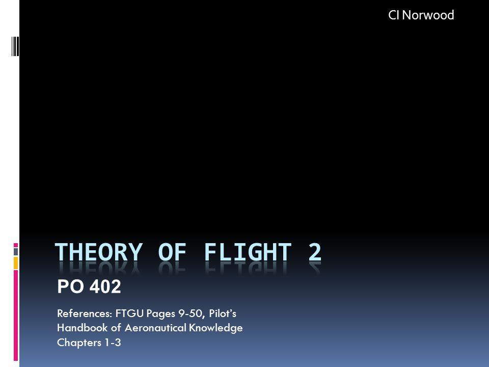 Theory of Flight 2 PO 402 CI Norwood