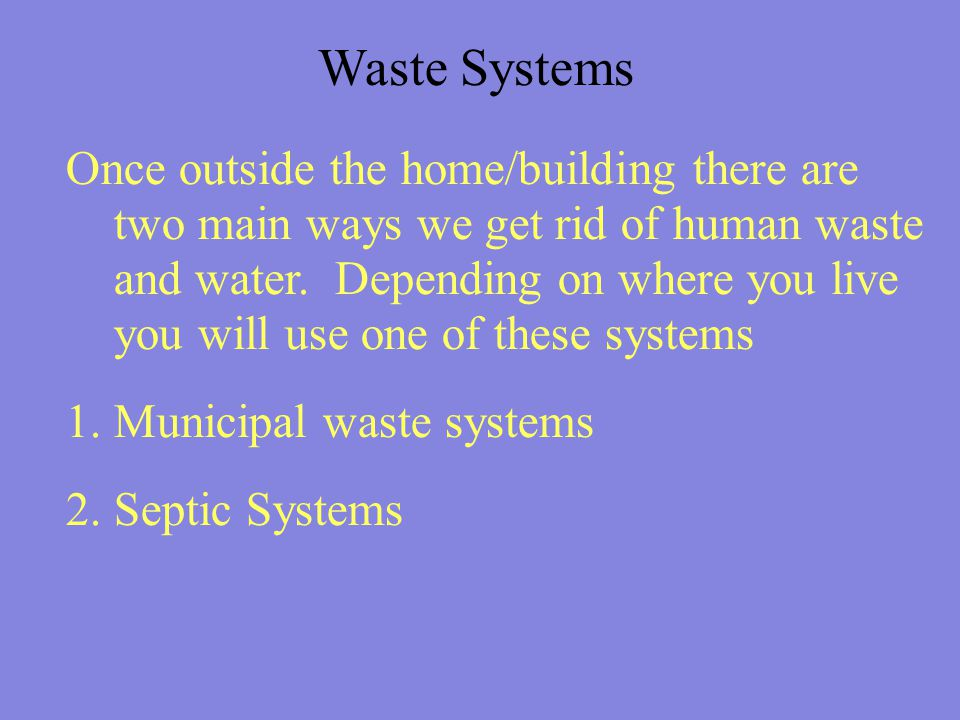 Waste Systems