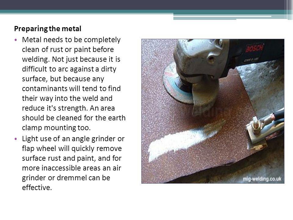 Preparing the metal