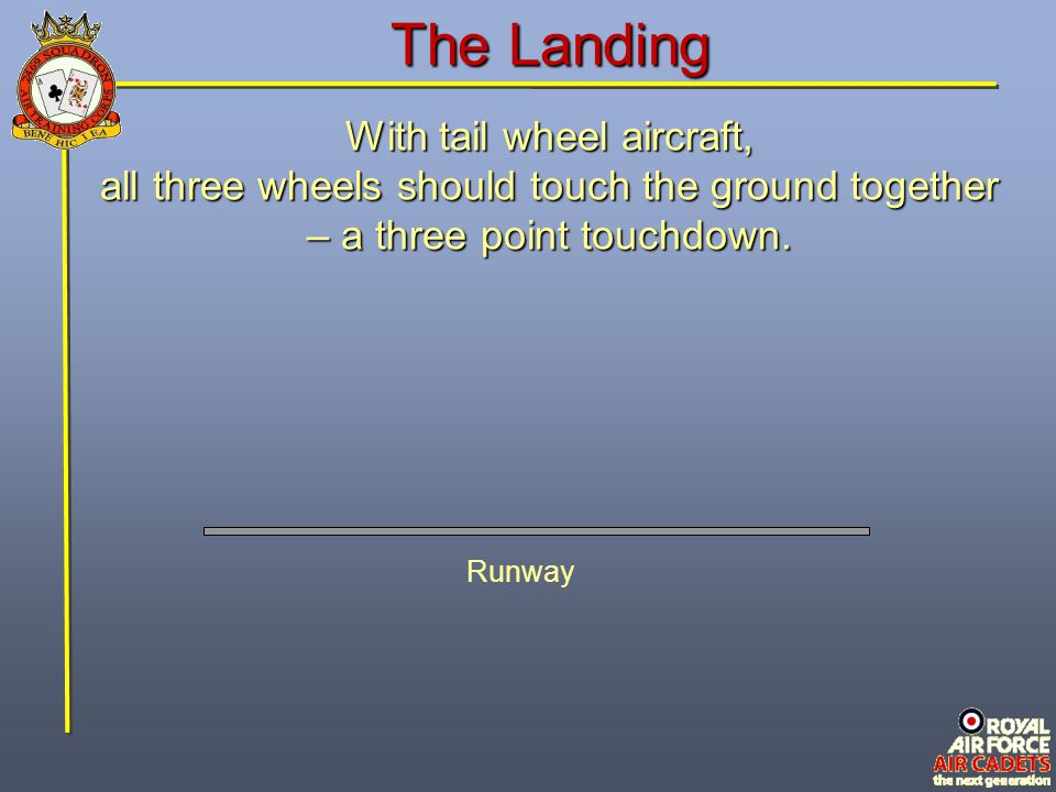 The Landing With tail wheel aircraft,
