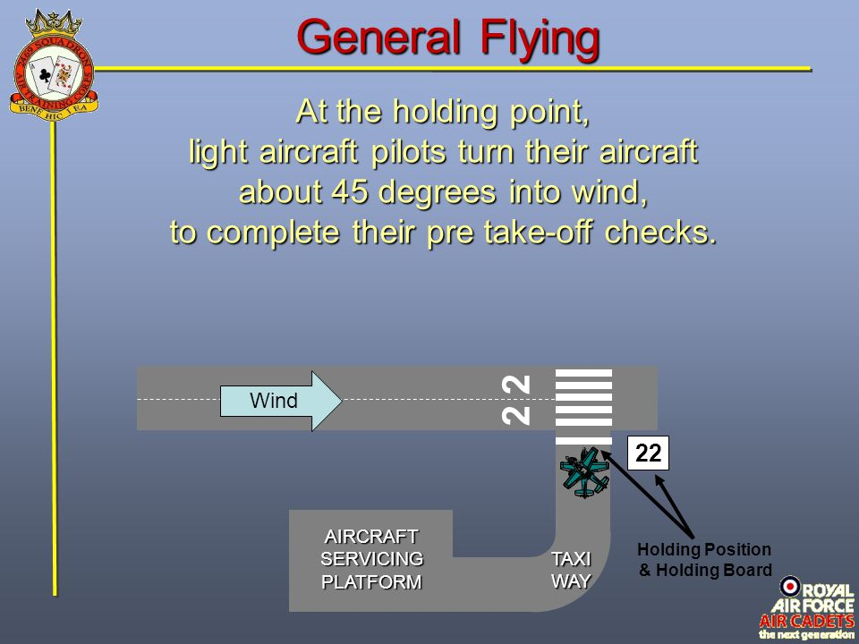 General Flying 2 2 At the holding point,