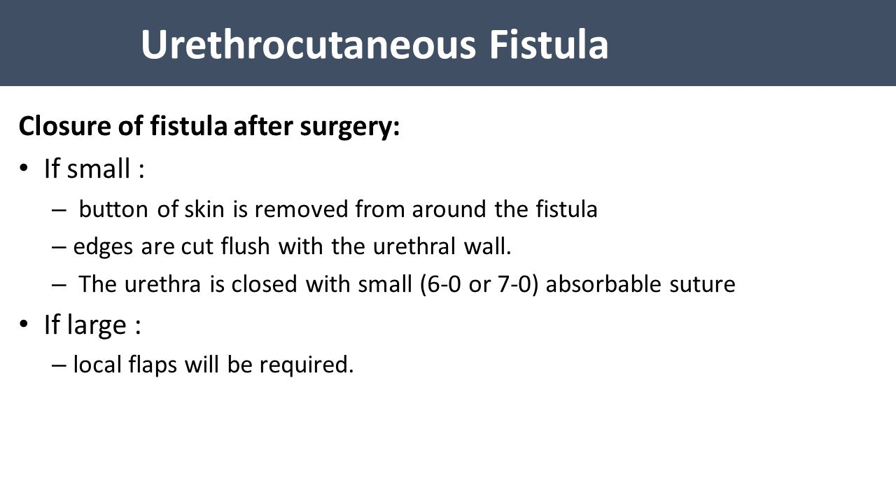 Urethrocutaneous Fistula