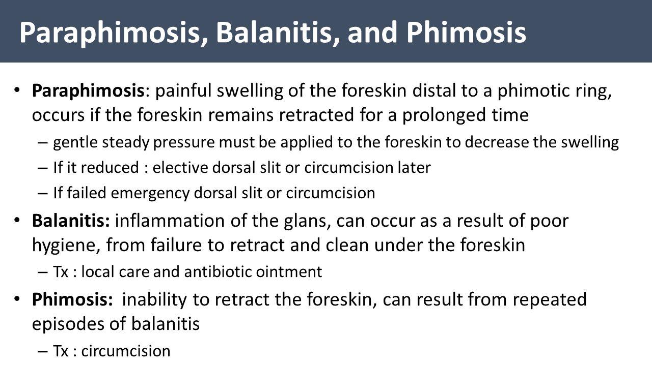 Paraphimosis, Balanitis, and Phimosis