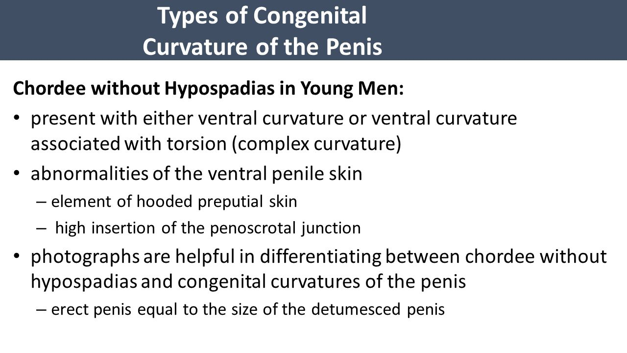 Types of Congenital Curvature of the Penis