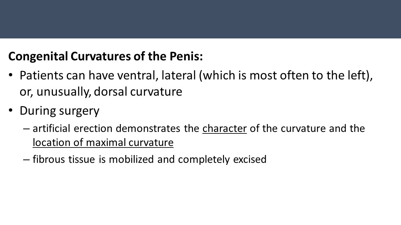 Congenital Curvatures of the Penis: