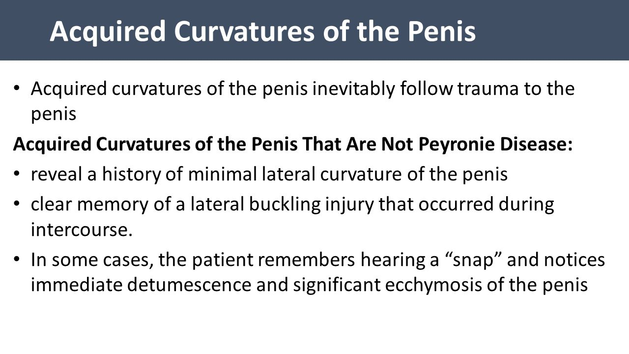 Acquired Curvatures of the Penis