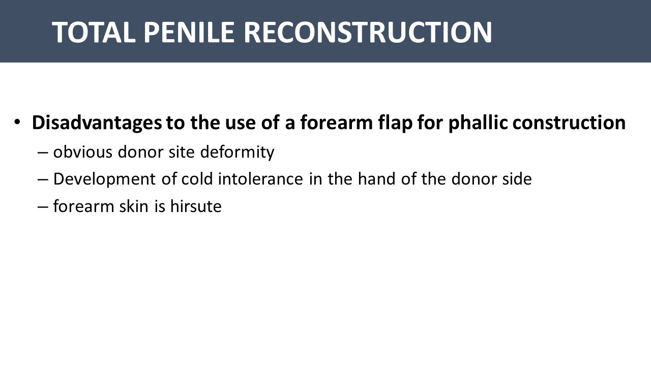 TOTAL PENILE RECONSTRUCTION