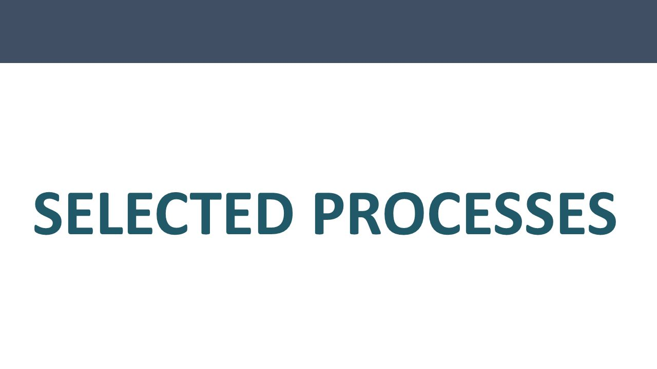 SELECTED PROCESSES