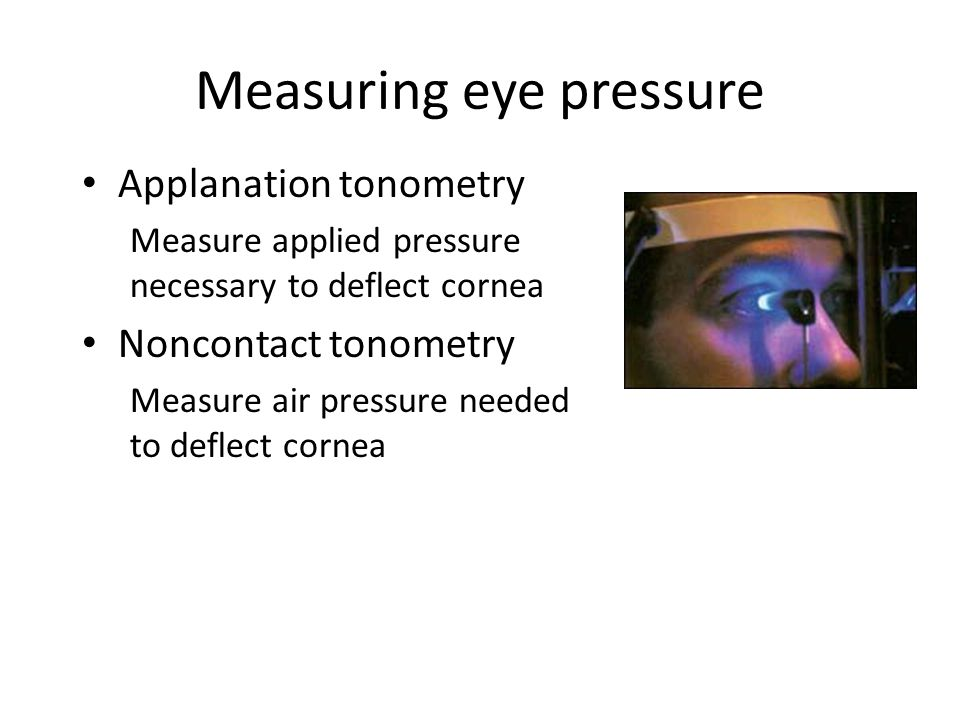 Measuring eye pressure