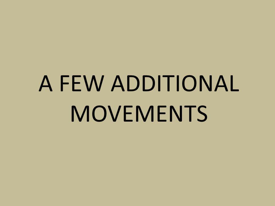 A FEW ADDITIONAL MOVEMENTS