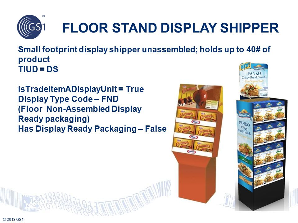 FLOOR STAND DISPLAY SHIPPER