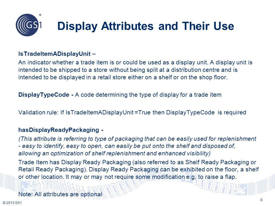 Display Attributes and Their Use