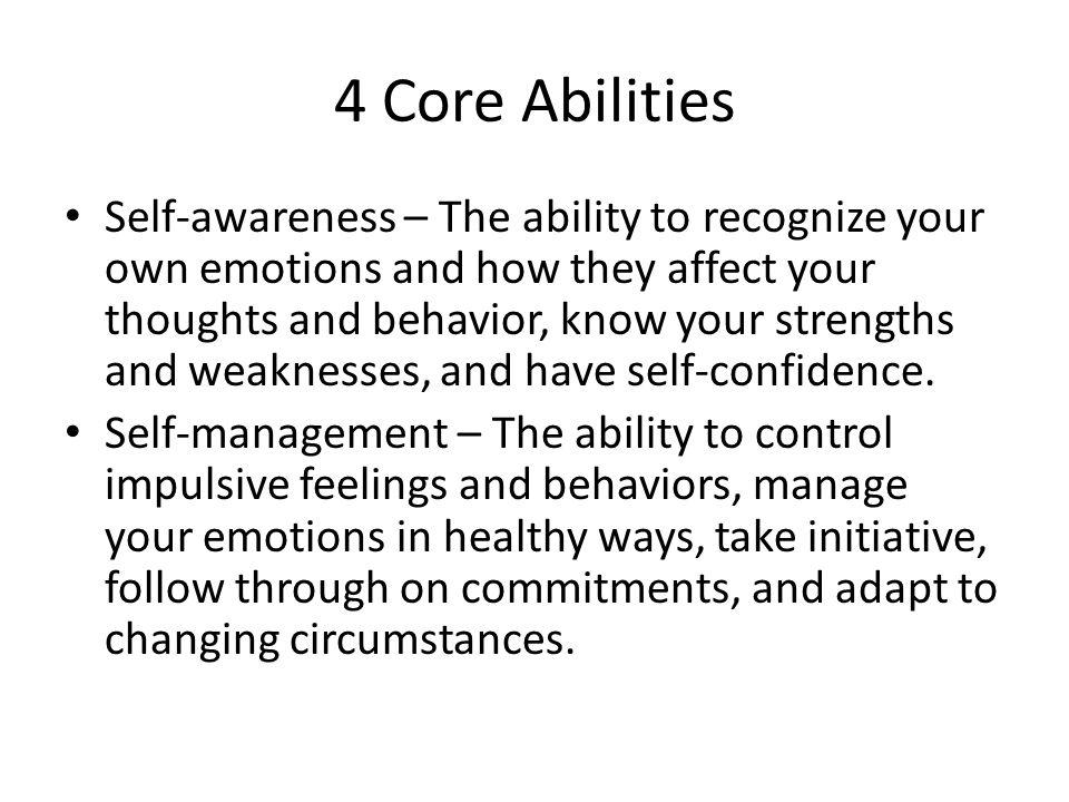 4 Core Abilities