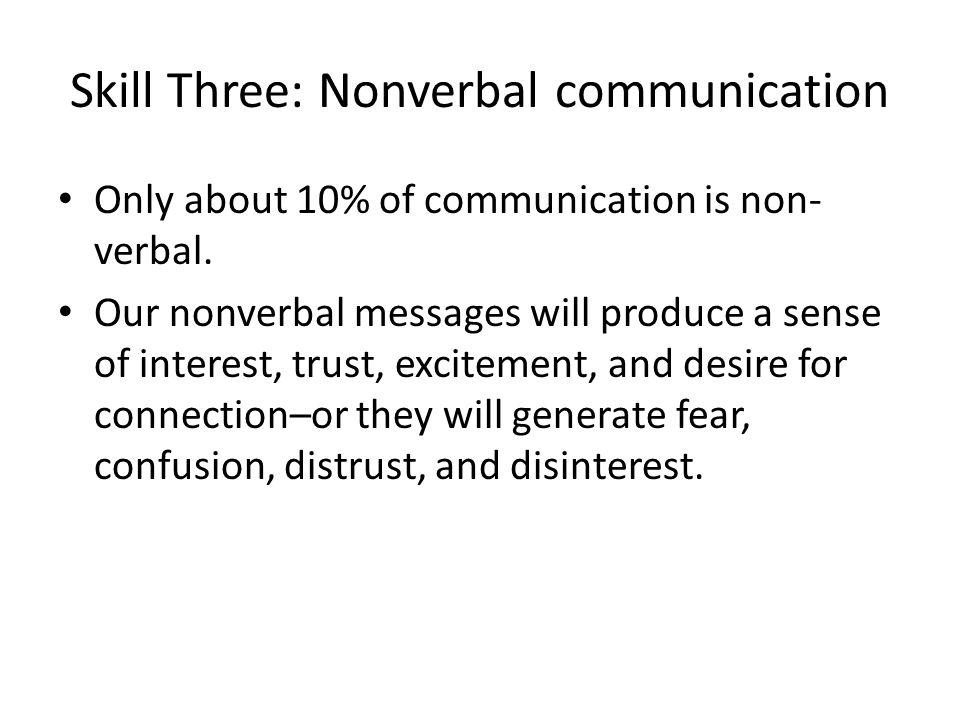 Skill Three: Nonverbal communication
