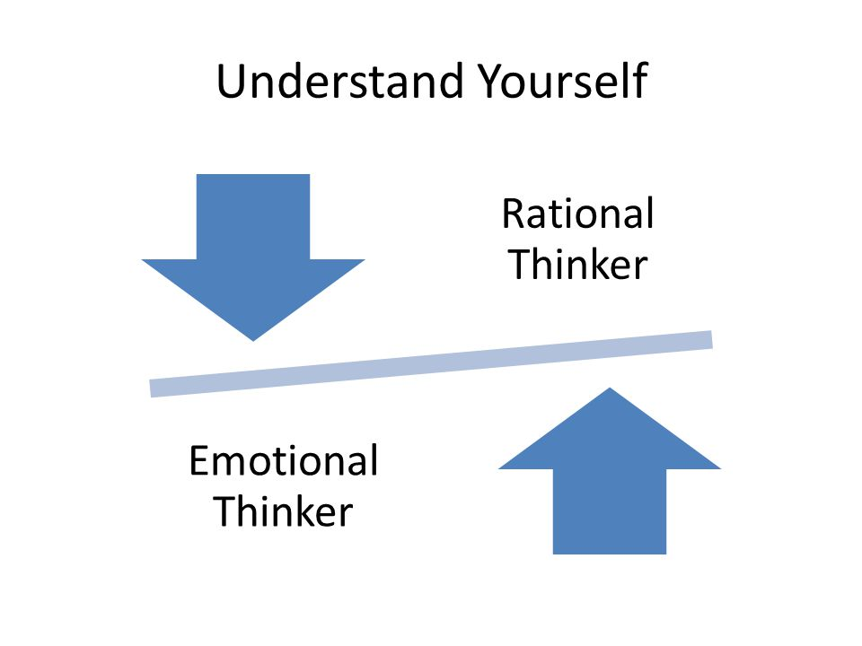 Understand Yourself Rational Thinker Emotional Thinker