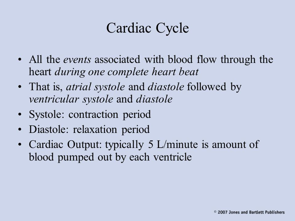 Cardiac Cycle All the events associated with blood flow through the heart during one complete heart beat.