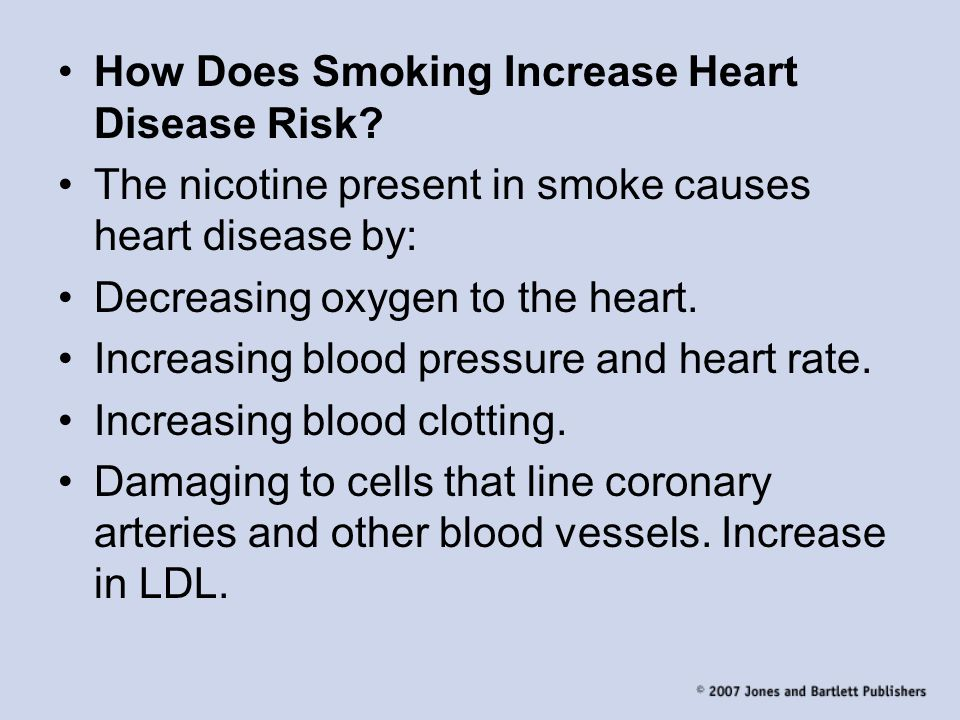 How Does Smoking Increase Heart Disease Risk