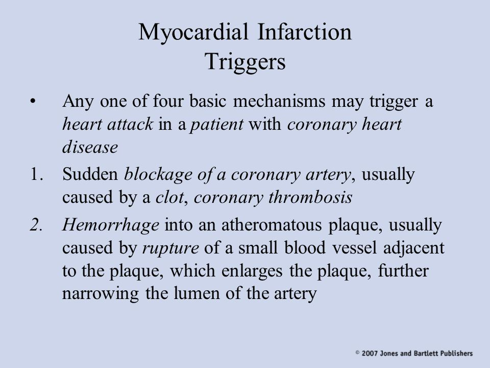 Myocardial Infarction Triggers