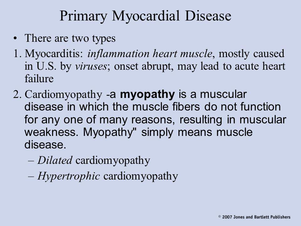 Primary Myocardial Disease