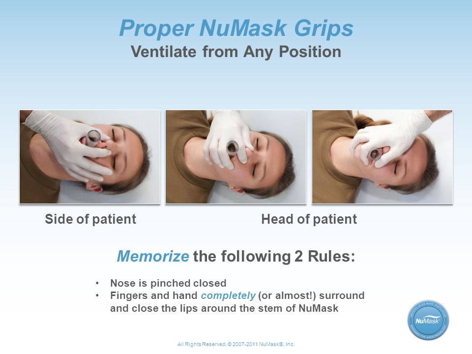 Proper NuMask Grips Ventilate from Any Position