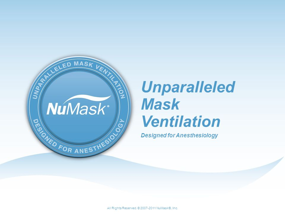 Unparalleled Mask Ventilation