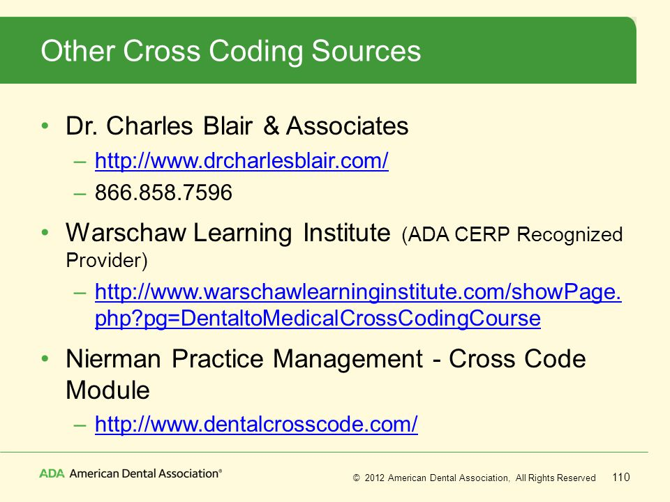 Other Cross Coding Sources
