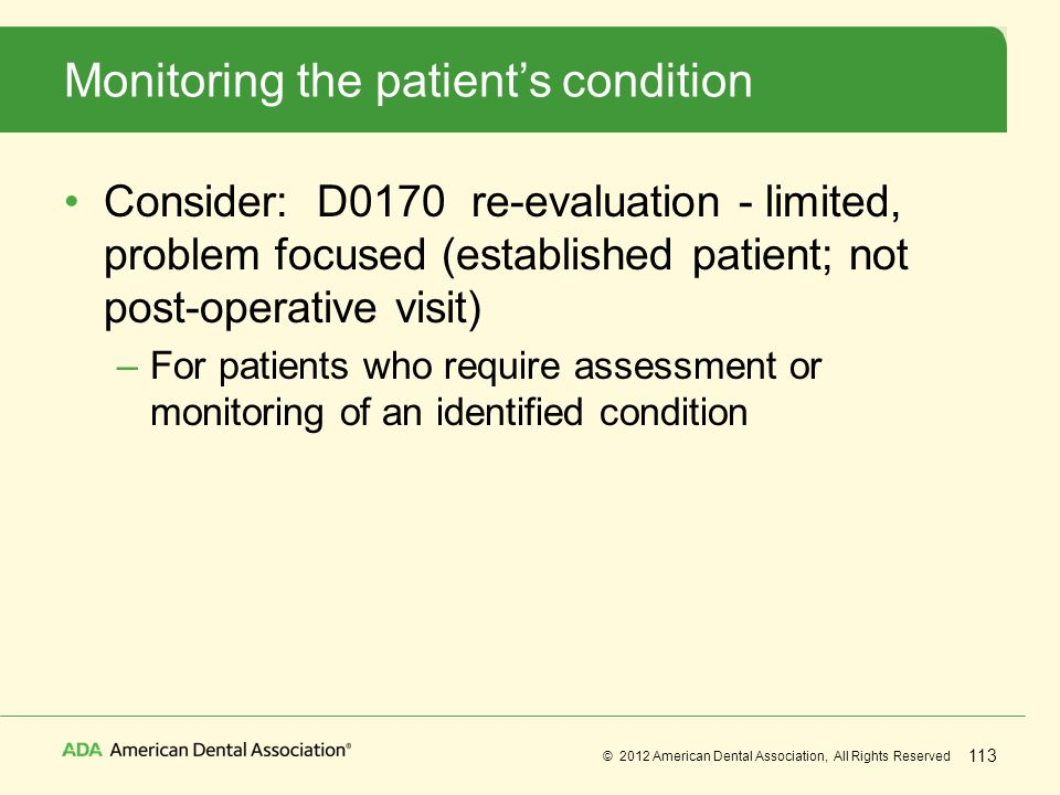 Monitoring the patient's condition