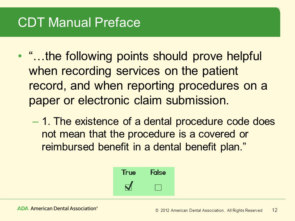 CDT Manual Preface