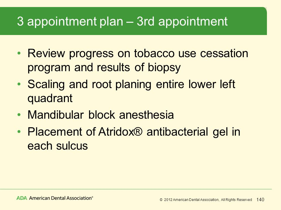 3 appointment plan – 3rd appointment